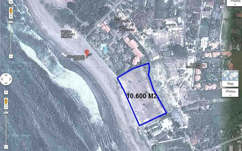 Wonderful beachfront land Bali for sale in Batu Belig area