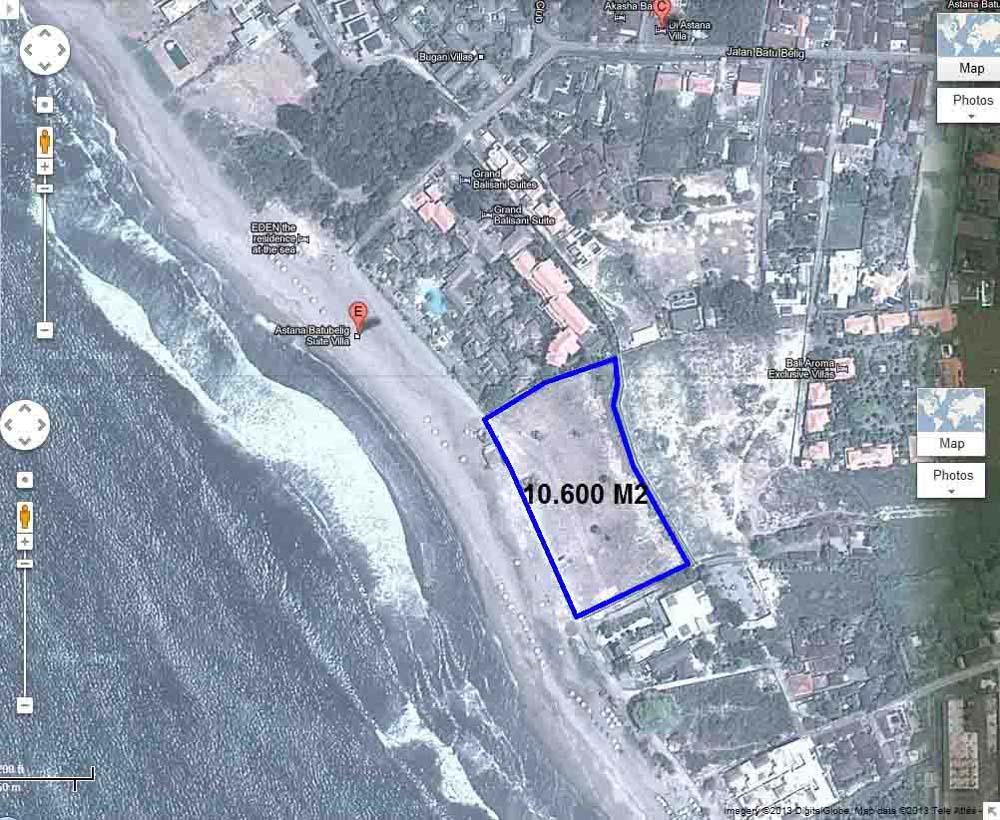 Wonderful beachfront land Bali for sale in Batu Belig area