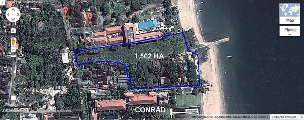 Fabulous Bali beachfront land for sale on the best area of Nusa Dua