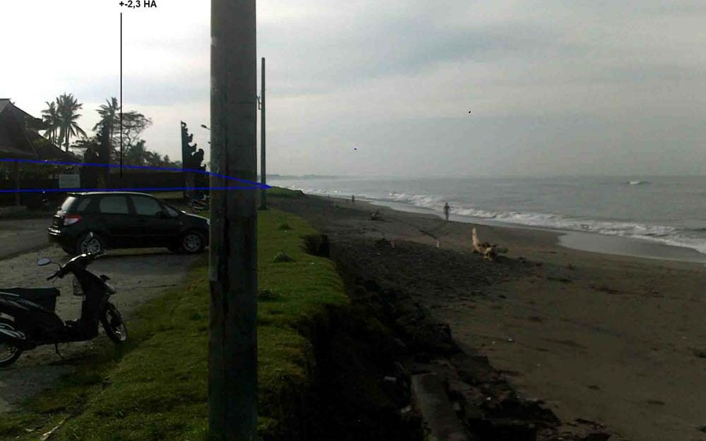 Fabulous Bali beachfront land for sale in Canggu prime location