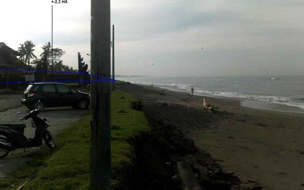 Fabulous Bali beachfront land for sale in Canggu prime location