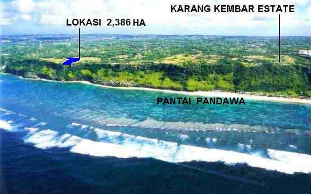 Splendid Bali cliff land for sale in the billionaire row of Ungasan