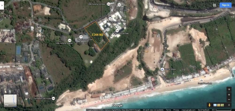 Exceptional Bali cliff land for sale in Ungasan elite location