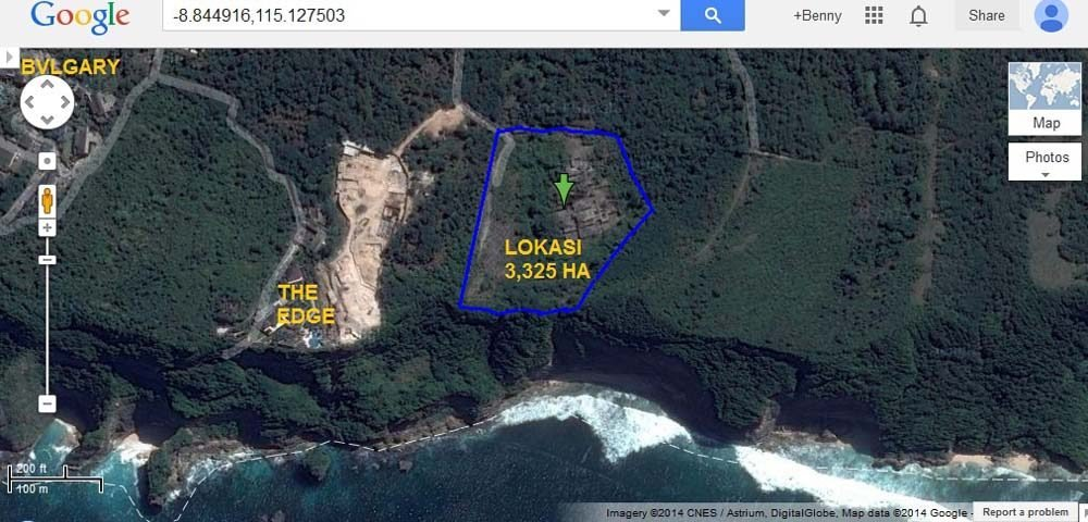 Majestic cliff-front land for sale in Bali on a prime location of Uluwatu
