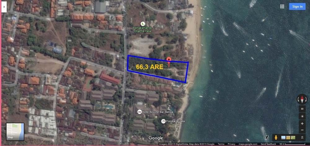 Exceptional cliff-front land for sale in Bali on a prime location in Nusa Dua