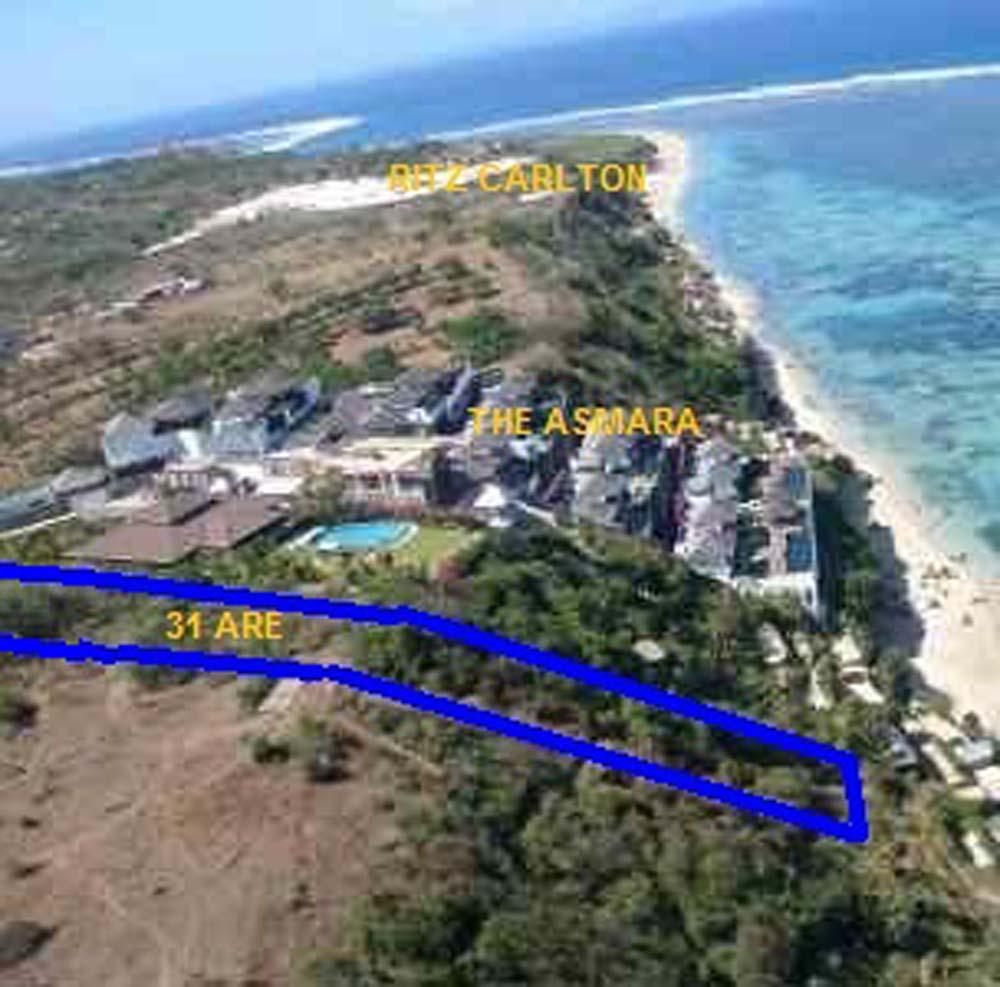Sumptuous Bali cliff land for sale in Nusa Dua billionaire row