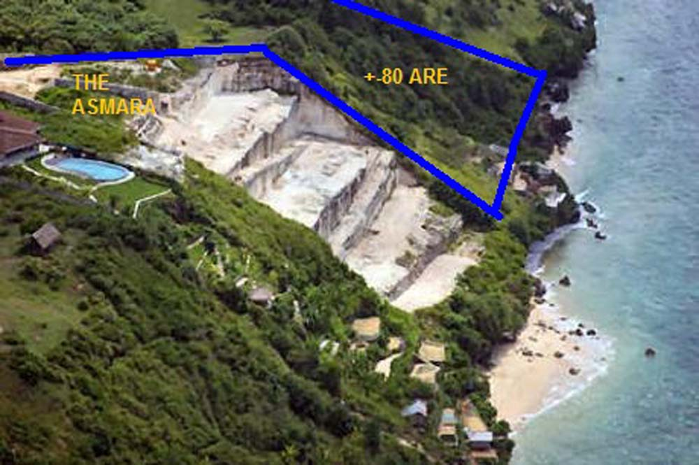 Amazing Bali cliff land for sale on the best location of Nusa Dua