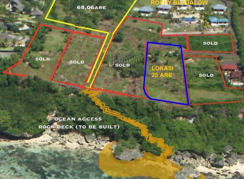 Exceptional Bali cliff land for sale in the billionaire row of Uluwatu