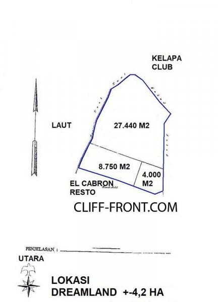 Exclusive Cliff-Front & Beachfront land for sale in the best area of Uluwatu Bali